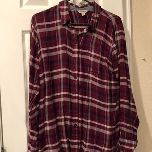 Soft Lucky Brand Red Flannel Shirt